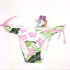Cia Maritima Cheeky bikini bottoms hibiscus pink